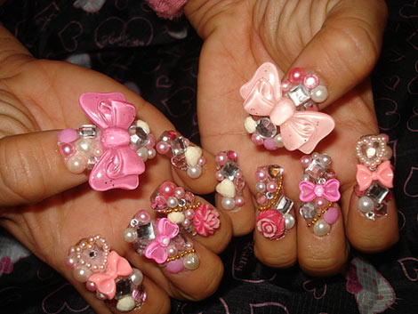 Tacky wacky or cool questionable nails new york ladys blog 3d nail art prinsesfo Choice Image