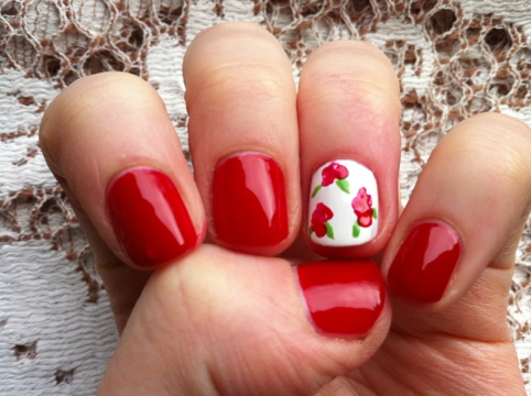 March Manicure Madness, Day Nine: Snow White, Rose Red (1/6)